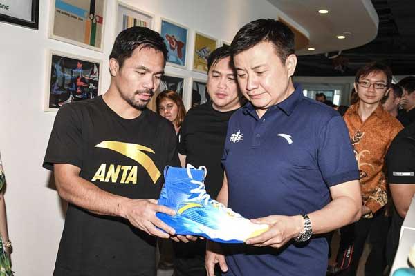Manny Pacquiao and Anta china tour